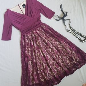 Melrose Fit and Flare Lace Dress